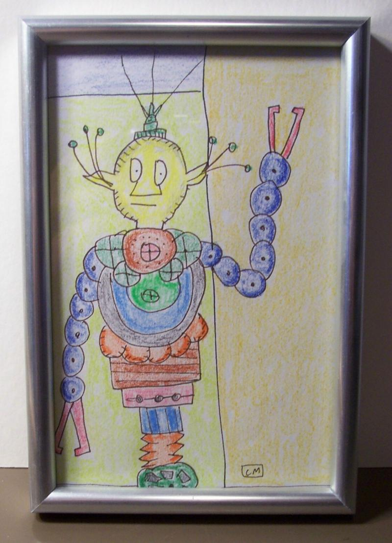 ROBOT IN SILVER FRAME