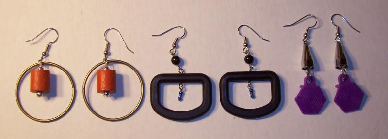 SET OF THREE EARRINGS